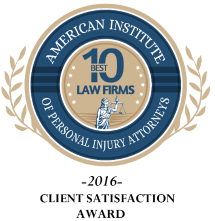 10 Best Client Satisfaction Award - American Institute of PI Attys