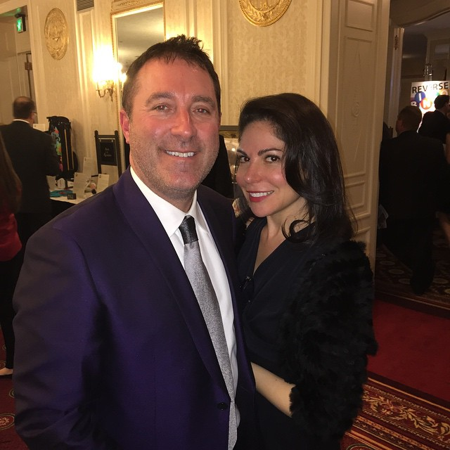 Attorney Jason Abraham and his wife supporting the Oscar Gala