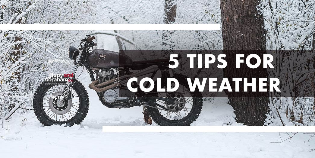 Tips for riding motorcycle in cold winter weather
