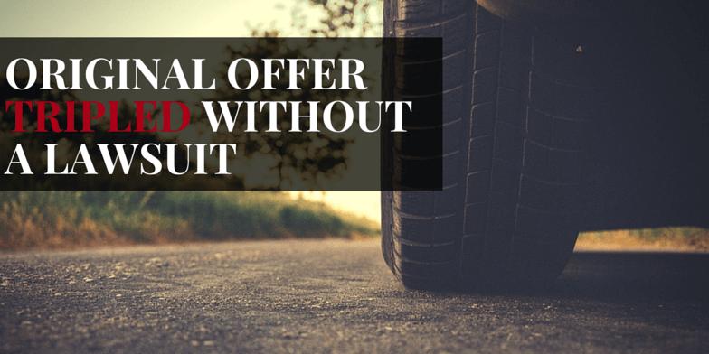 Original offer tripled