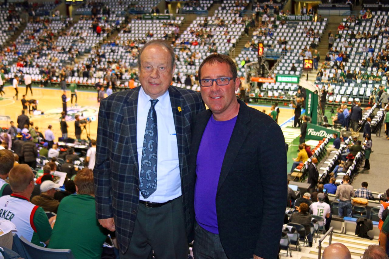 Hupy and Abraham attorneys at Milwaukee Bucks game