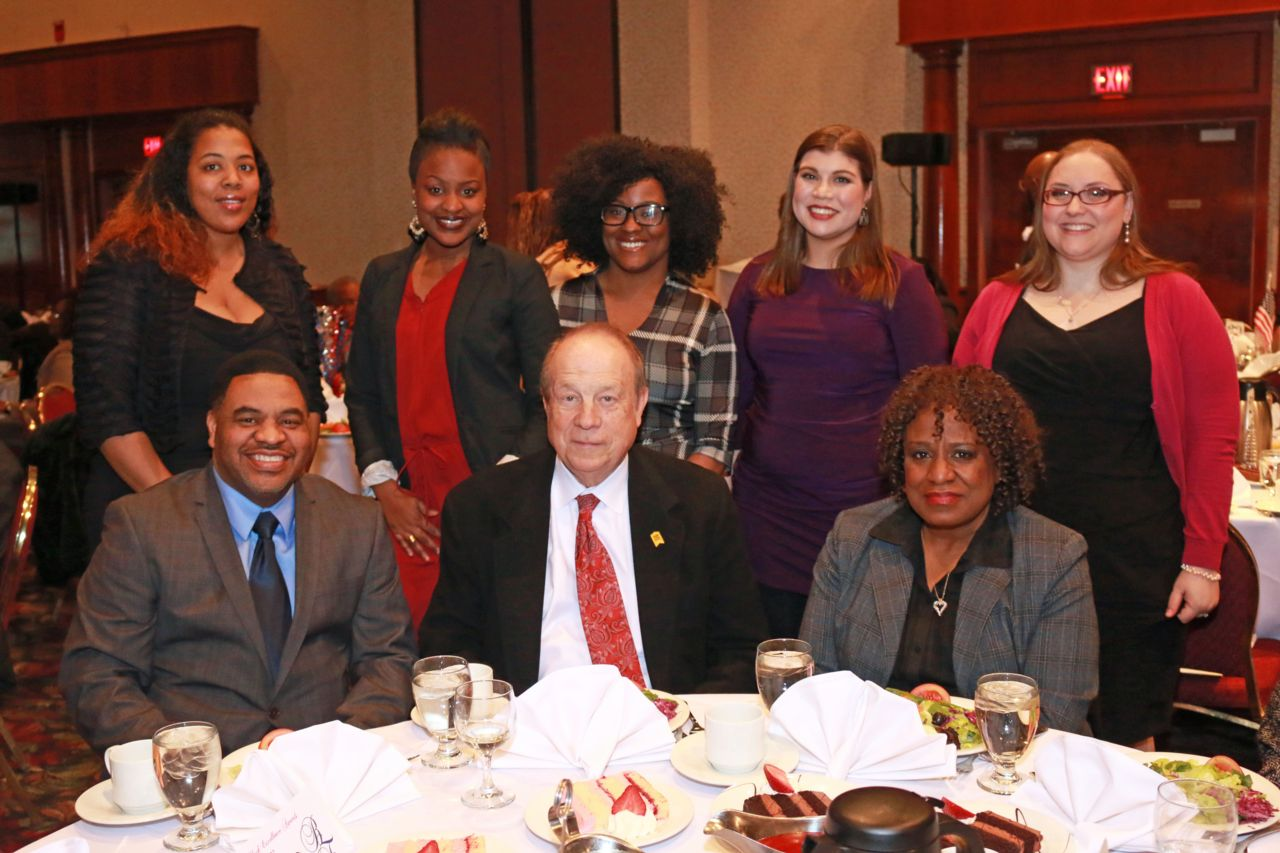 Attorney Michael Hupy with employees at Black Excellence Awards