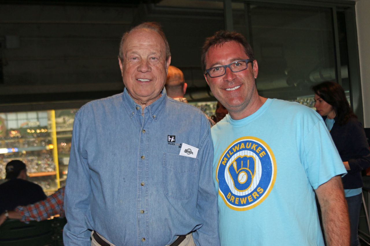 Attorney Michael Hupy and Jason Abraham at the Brewers game