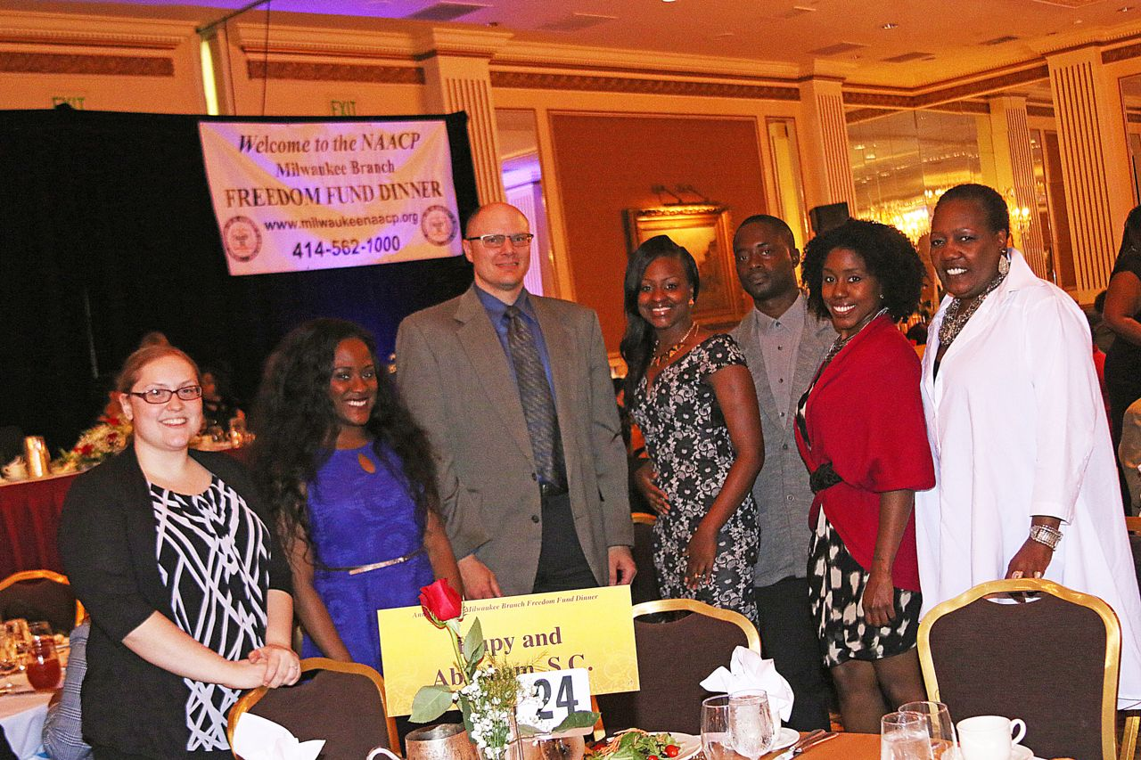 Attorney Todd Korb and employees at Freedom Fun Dinner