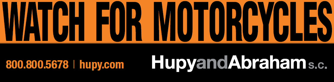 Banner of Watch for Motorcycles with Hupy and Abraham number and website infoo