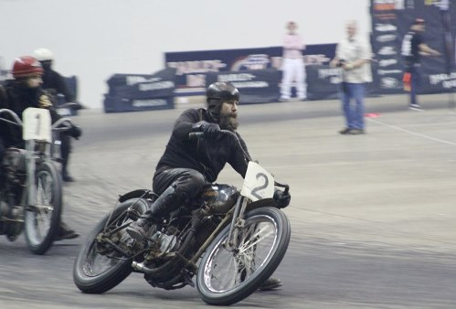 Racing  at Mamma Tried motorcycle show