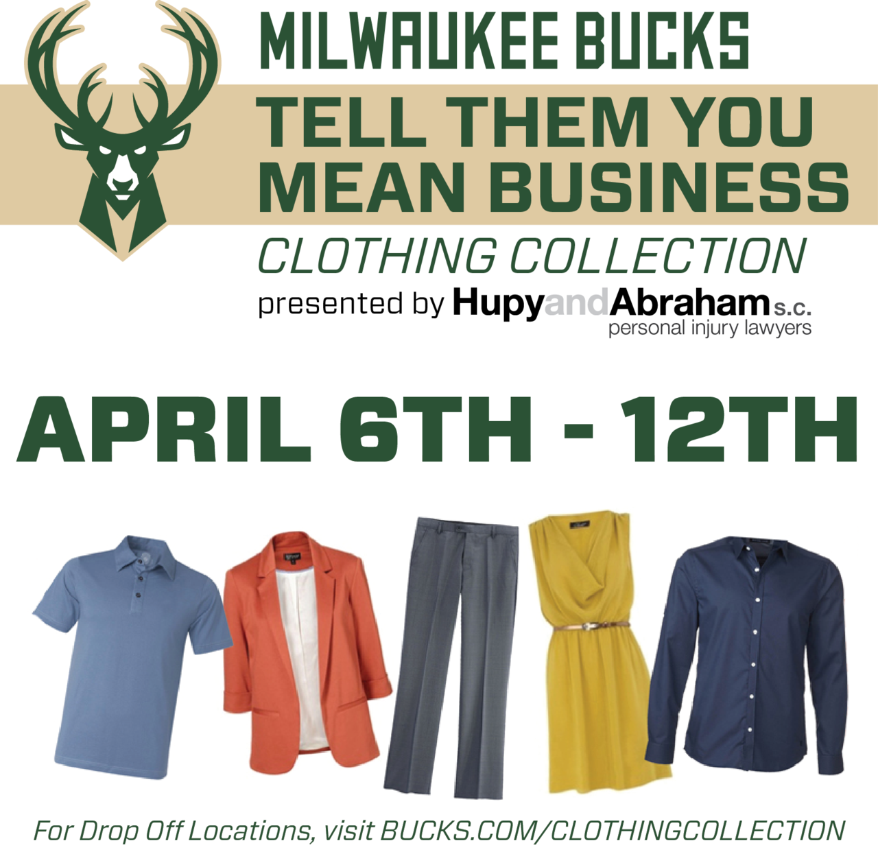 tell them you mean business clothing drive