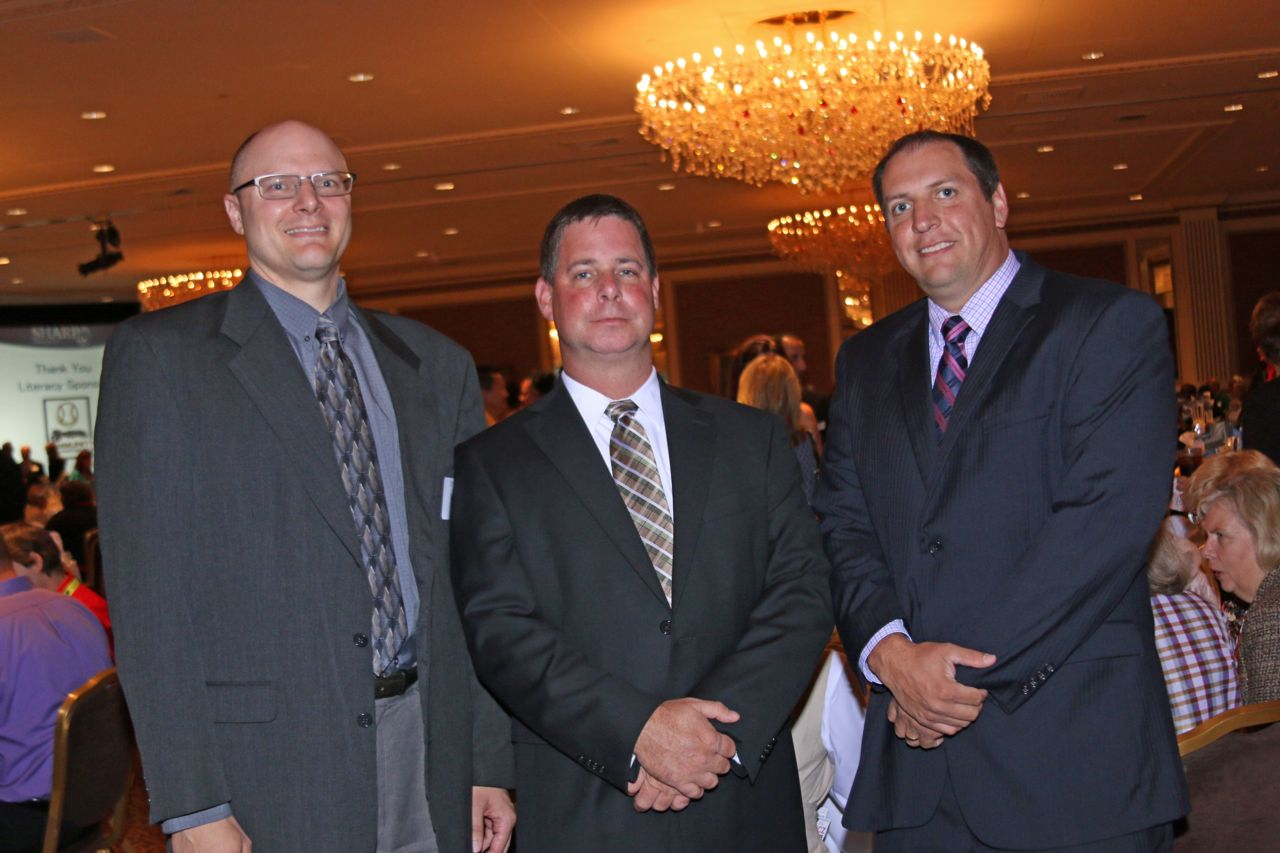 Attorney Thomas Perlberg, Timothy Schelwat and Todd Korb at SHARP Literacy Luncheon