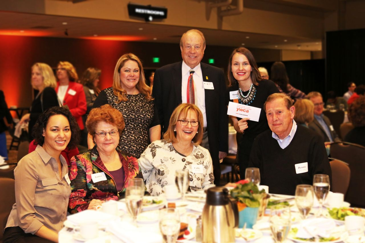 Attorney Michael Hupy with staff at Annual Circle of Women luncheon