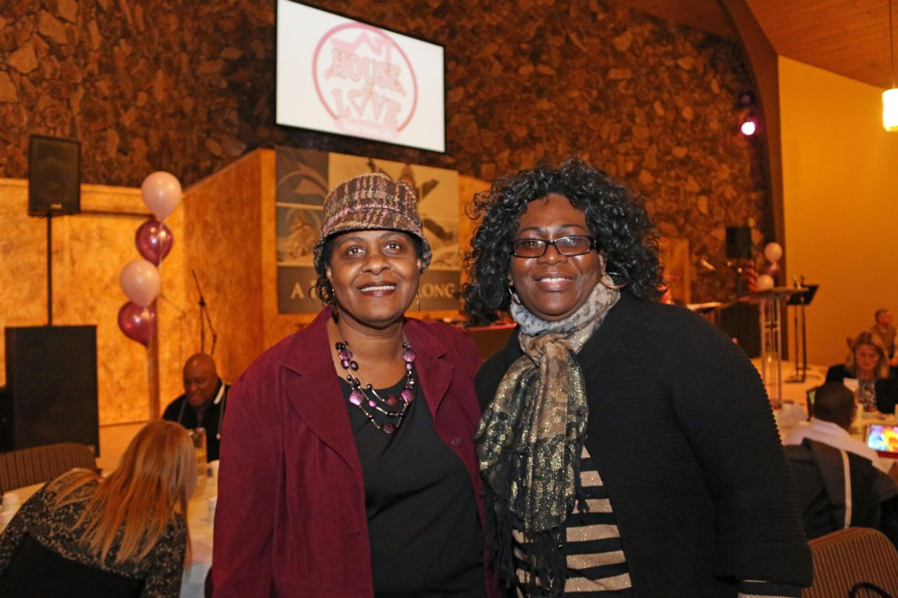 House of Love founder Sister Julette Francis-Wade with Ms. Mary Brock, manager of HOL's Youth Home