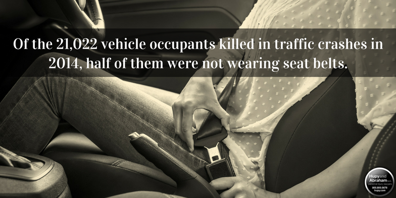 There is no good excuse for not wearing a seat belt