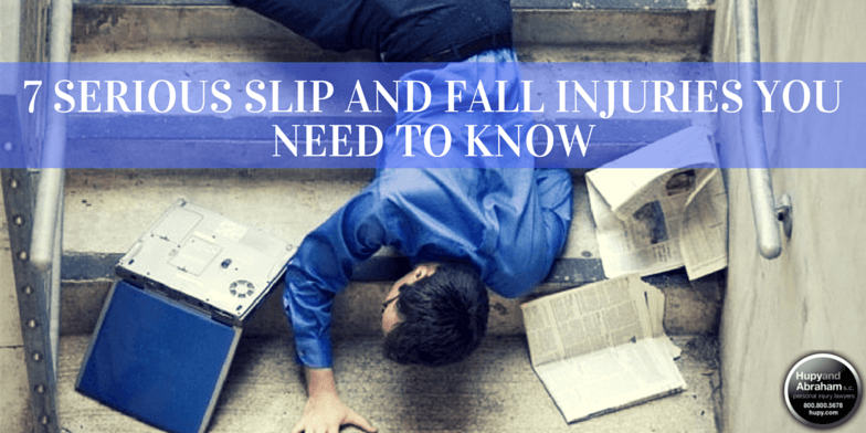A trip or fall can cause a wide variety of injuries