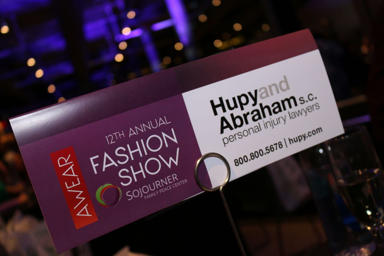Hupy and Abraham 12th Fashion Show signage