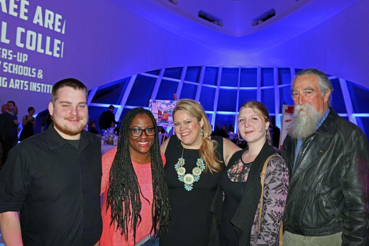 Tony, Erik, Sam, Jill at the Best of Milwaukee Award with host.
