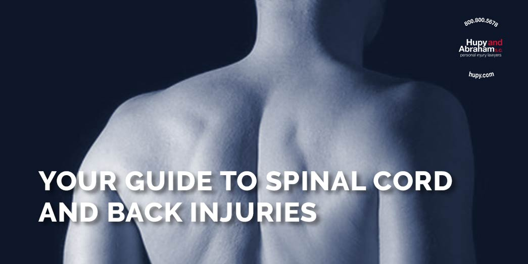 back with text Your guide to spinal cord and back injuries