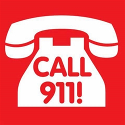 Telephone with call 911 text