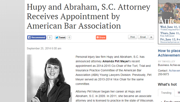 Attorney Receives ABA Appointment