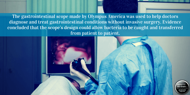 Olympus gastrointestinal scopes are suspected of carrying serious infections from one patient to another
