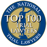 Brandon Derry National Trial Lawyer top 100 member seal