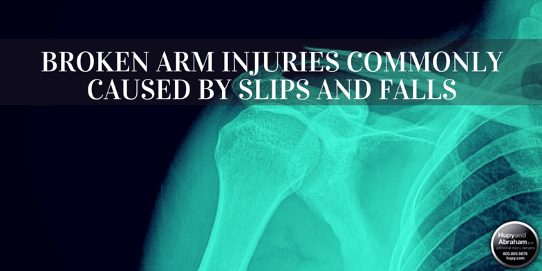 An arm broken in a fall injury may involve significant medical costs