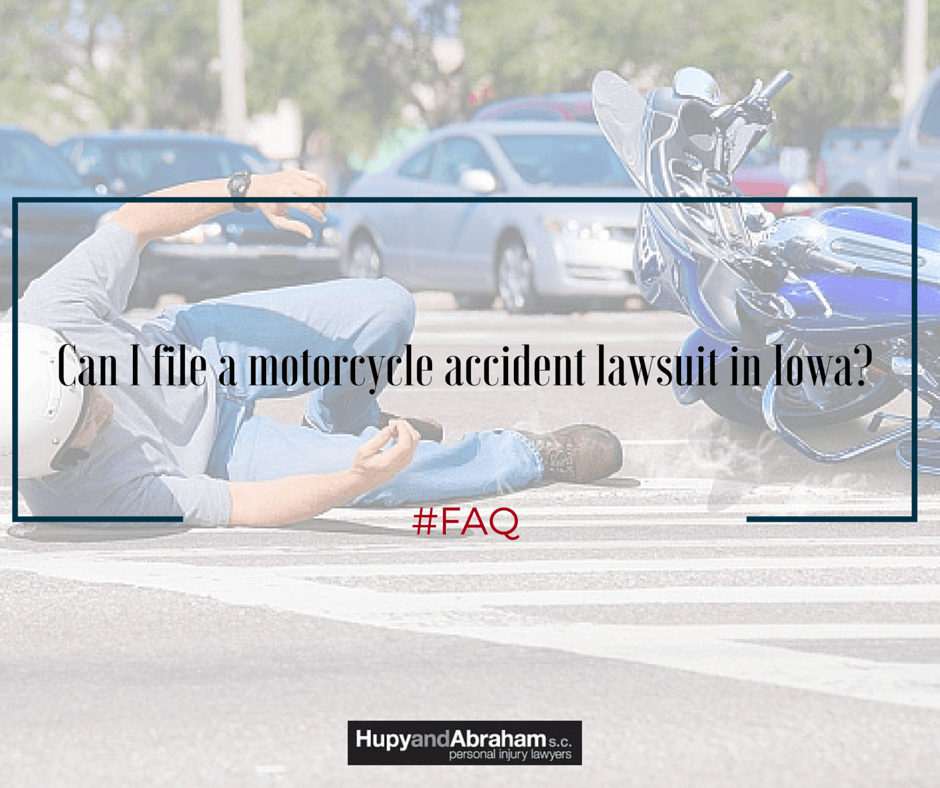 Iowa law determines if you are allowed to sue after a serious motorcycle crash