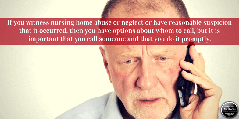 Notify the authorities of any Illinois nursing home negligence or abuse