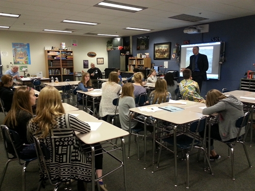 Attorney Korb at schools career day