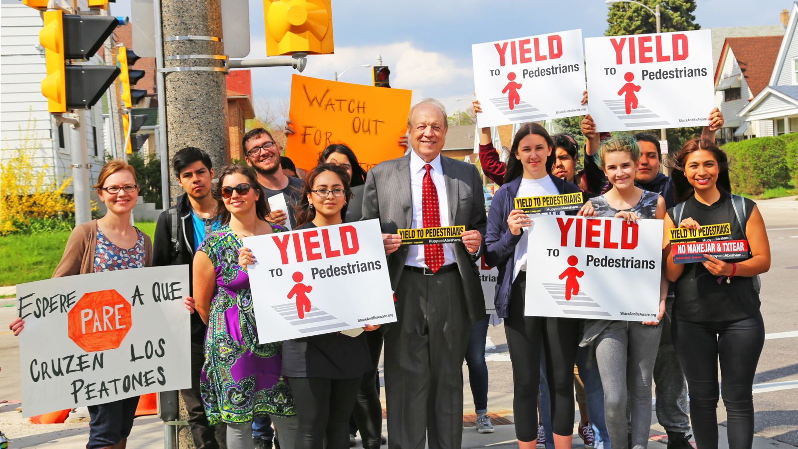 "Image Representing Attorney Michael Hupy and ""MilWALKee Walks"" Rally Support for Pedestrians"
