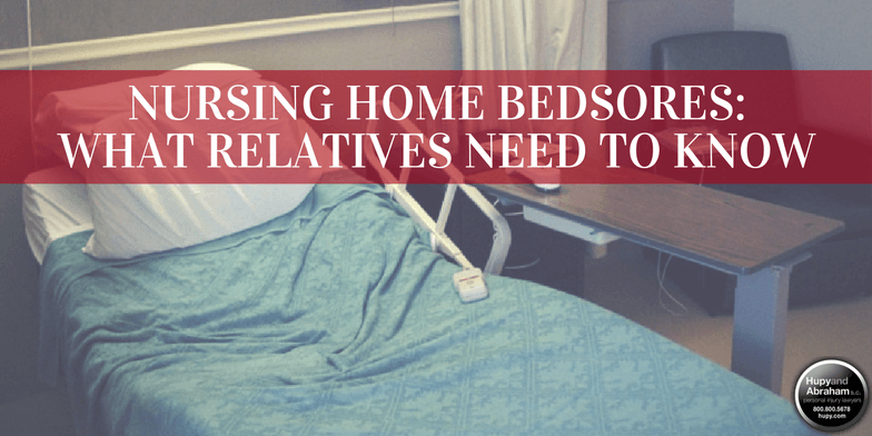 When serious bedsores are neglected, nursing home residents can experience serious injury or even death.