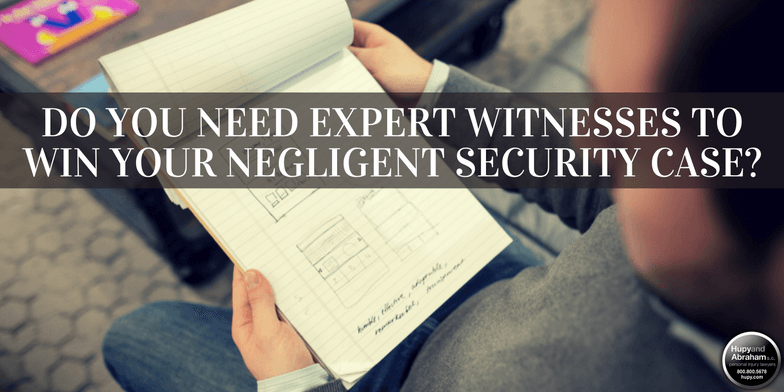 Economists and other expert witnesses may prove crucial to your negligent security claim