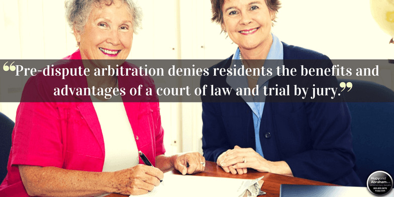 Nursing home residents no longer must agree to mandatory arbitration to resolve abuse or neglect claims
