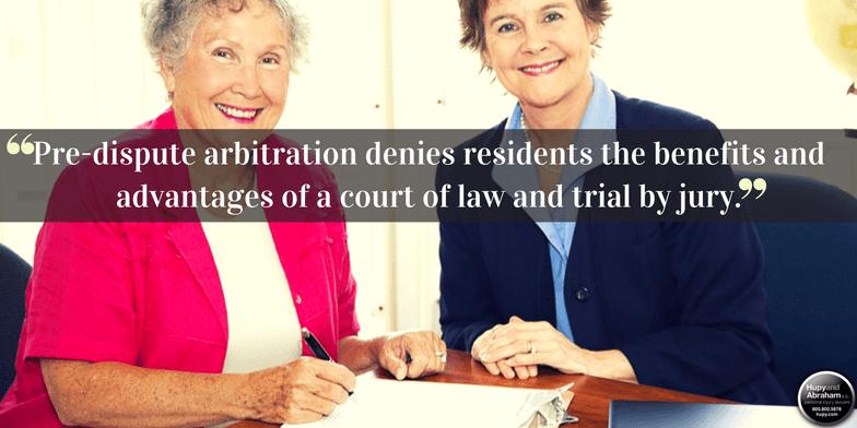 Nursing home arbitration agreements hupy and abraham sc dont sign that nursing home arbitration agreement yet platinumwayz