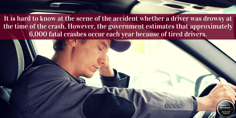 Driver fatigue can easily cause a fatal traffic accident