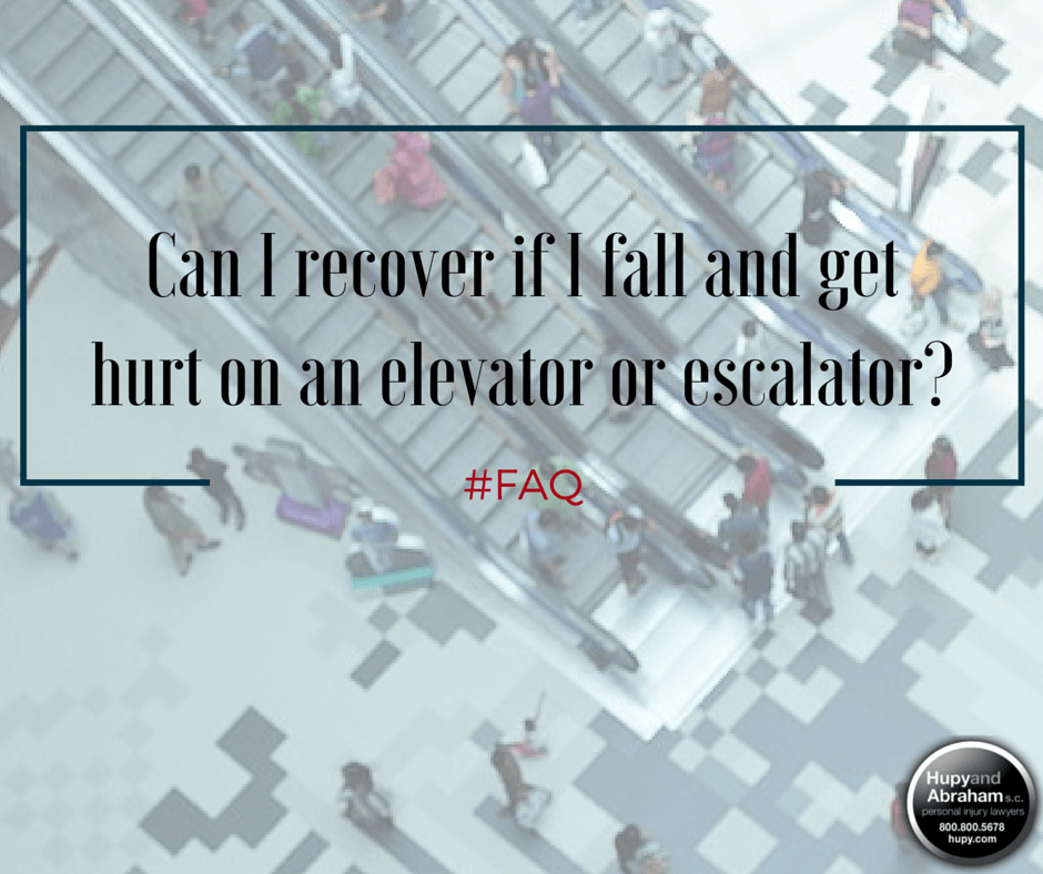 Poorly maintained escalators and elevators can cause serious fall injuries