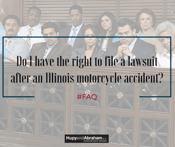 Your attorney can advise you whether you are able to sue for an Illinois motorcycle accident