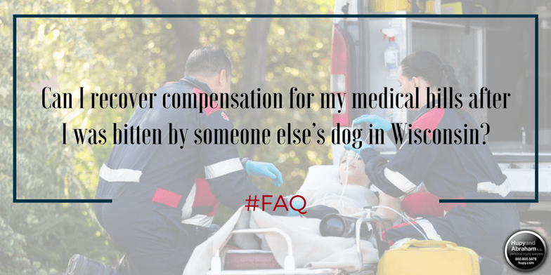 Emergency treatment after a dog attack may be included in your settlement or damages