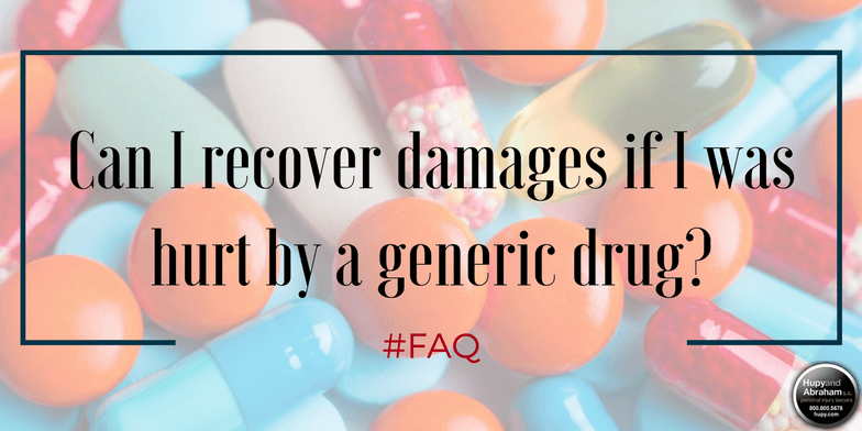 Compensation is possible for injuries caused by generic drugs