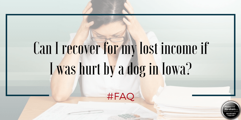 You should demand fair compensation for lost income after a dog bite