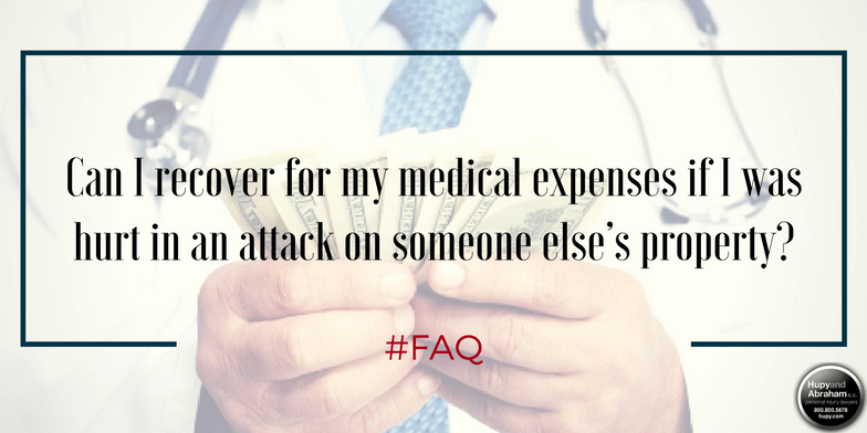 You may be able to recoup your medical expenses from a negligent security assault or injury