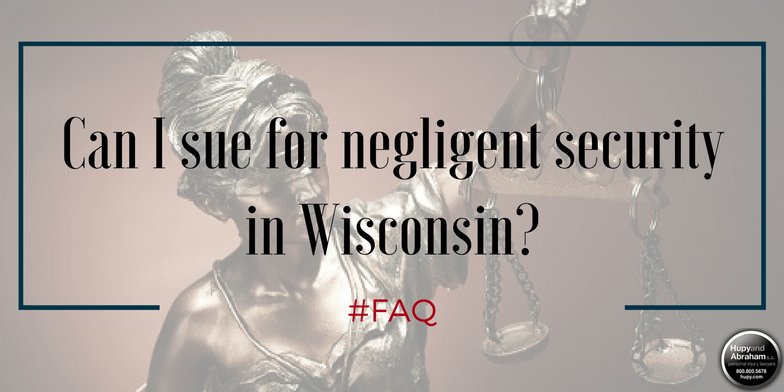 Wisconsin law limits who may have standing to sue for a negligent security incident
