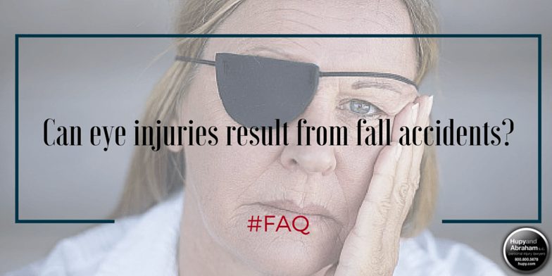 Eye injuries or eye loss can result from an unexpected fall or slip