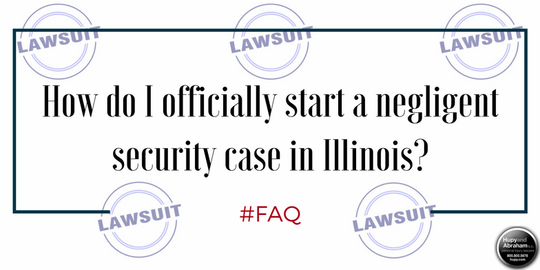 Filing a lawsuit in court begins the first steps toward your negligent security recovery