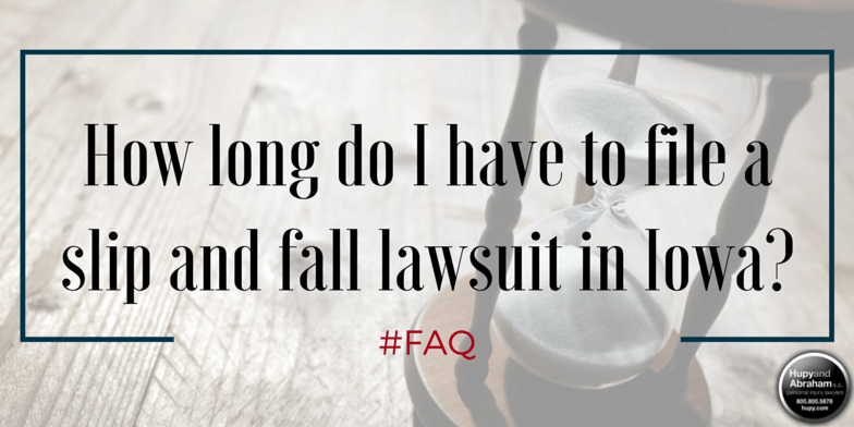 Don't let the time run out on your chance to file a fall accident claim