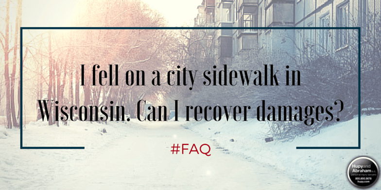 A slippery sidewalk may lead to a Wisconsin personal injury lawsuit