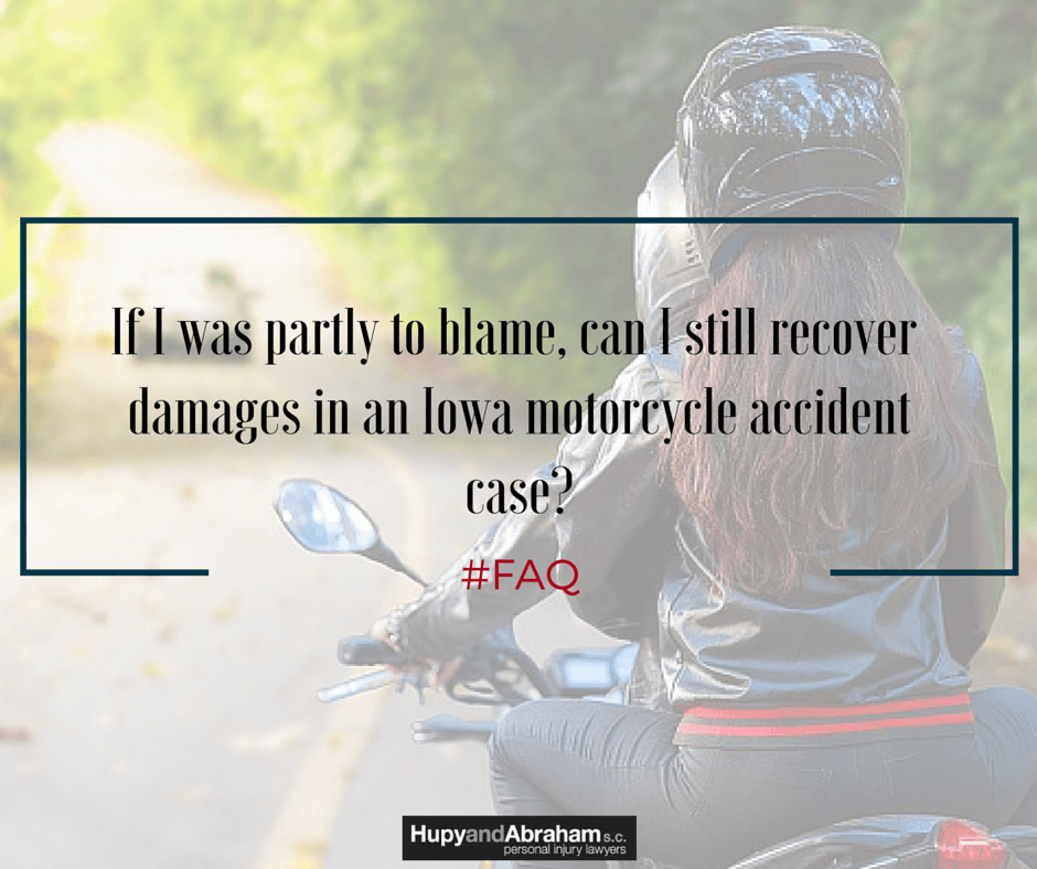 You may recover damages even if you were partly at fault for your motorcycle accident