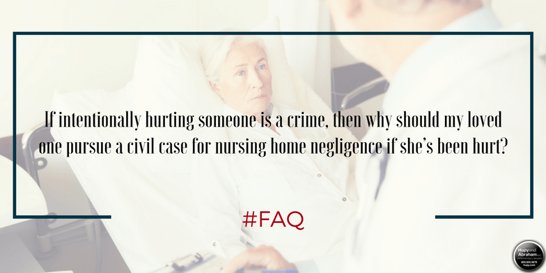 When a resident is assaulted and injured, the nursing home may be liable for any losses