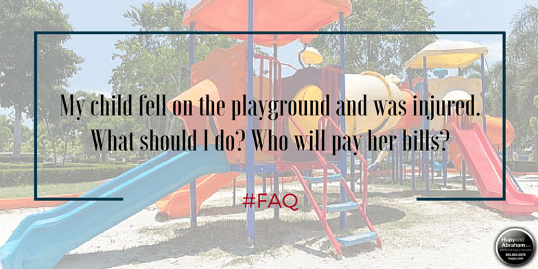 Defective or poorly maintained playground equipment may injure your child