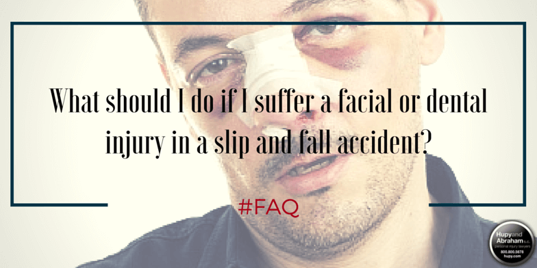 Severe facial and dental injuries can result from a trip or fall