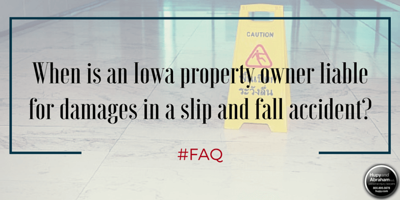 Circumstances determine whether the owner is liable for trip, fall, or slip accidents on his property
