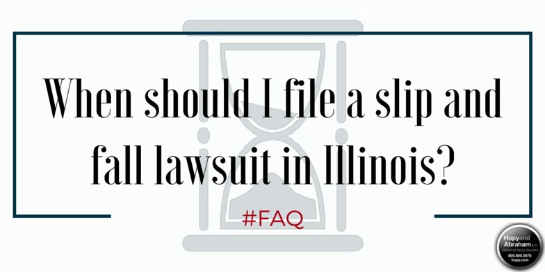 There is limited time to file a slip and fall lawsuit in Illinois